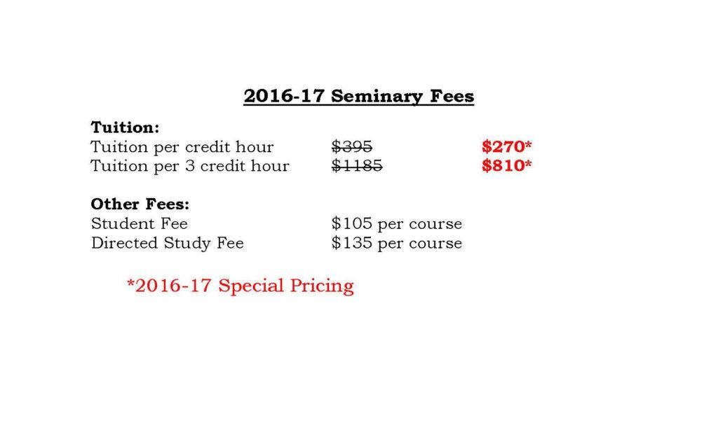 Seminary fees