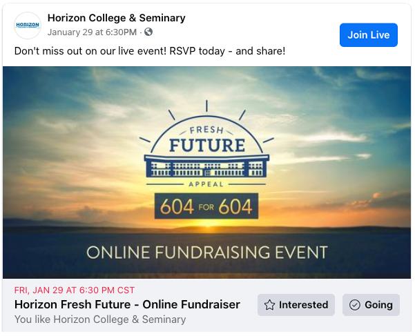 Fresh Future Facebook Live Event