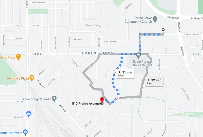 510 Prairie Avenue Google Map