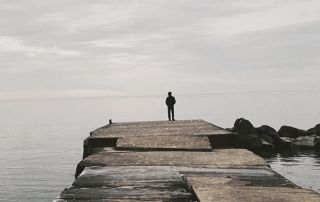 Contemplating on the dock